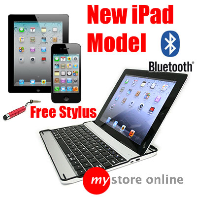 3 in 1 Aluminium Bluetooth Wireless Keyboard Case Stand 4 Apple iPad 2 BLACK