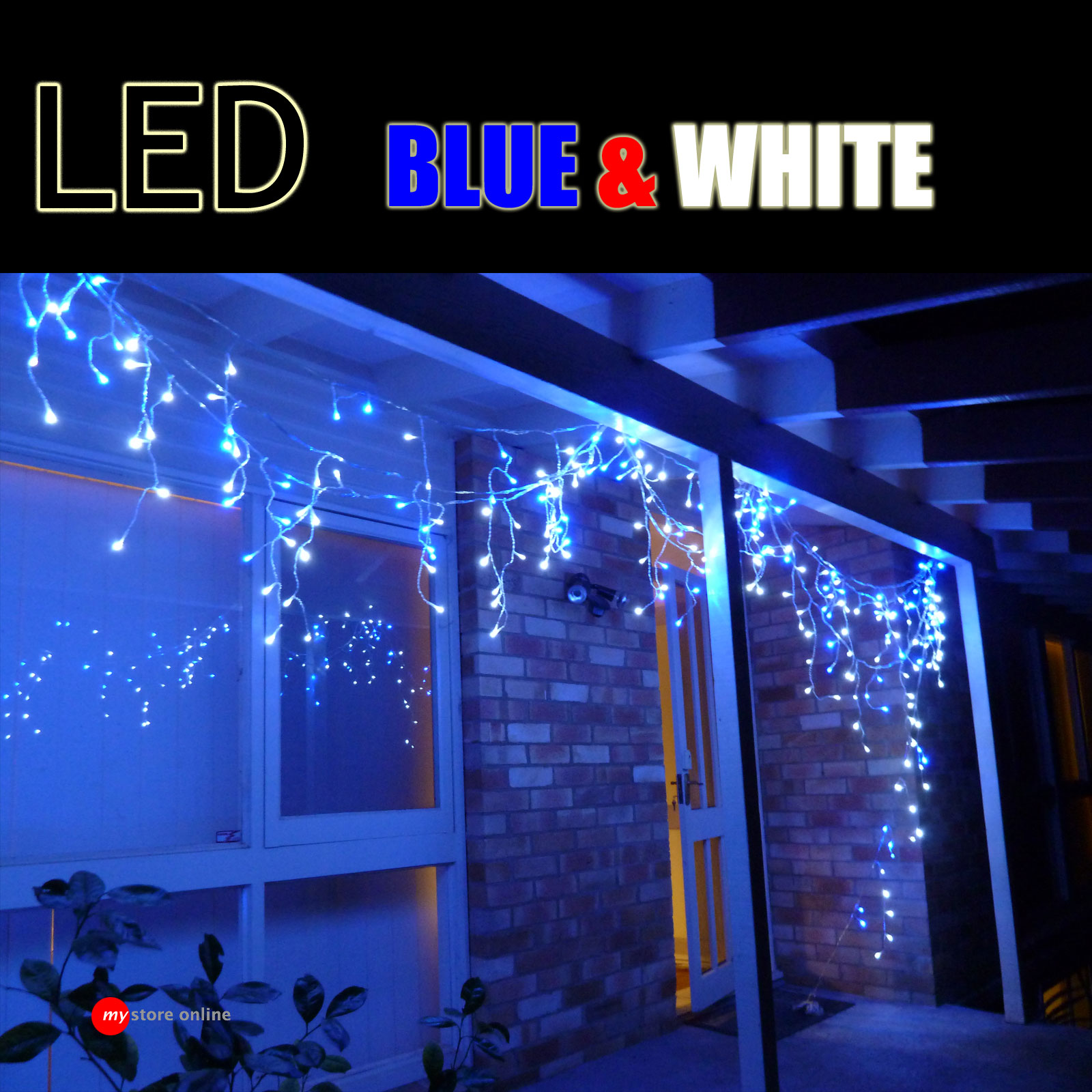 Utra bright head led blue white outdoor christmas