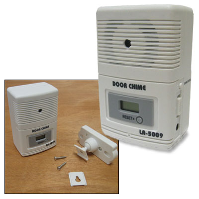 sensor doorbell door chime w counter shop office home